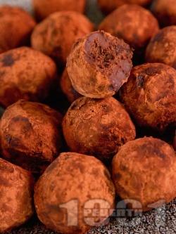 Домашни шоколадови бонбони трюфели - снимка на рецептата